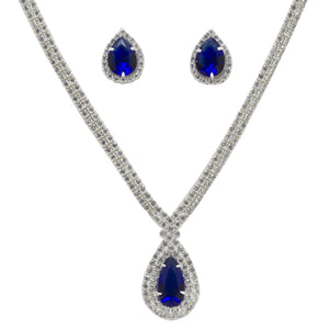 Royal Blue Water Drop Duo-Set with Swarovski Elements