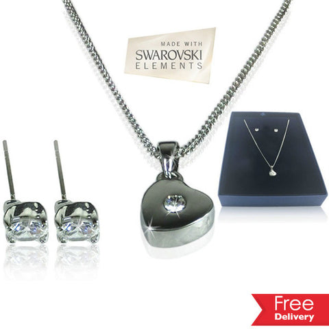 I Heart You Swarovski Set For R189.99 Including Delivery