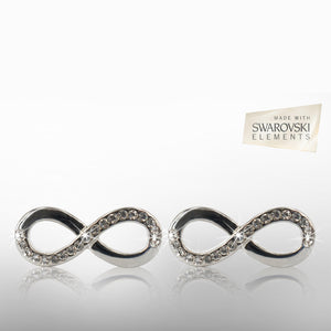 Infinity Loop Earrings with Swarovski Elements - iDealDirect