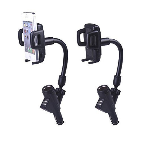 Car Charger Holder With A Dual USB Port And A Cigarette Lighter For R229.99 Including Delivery