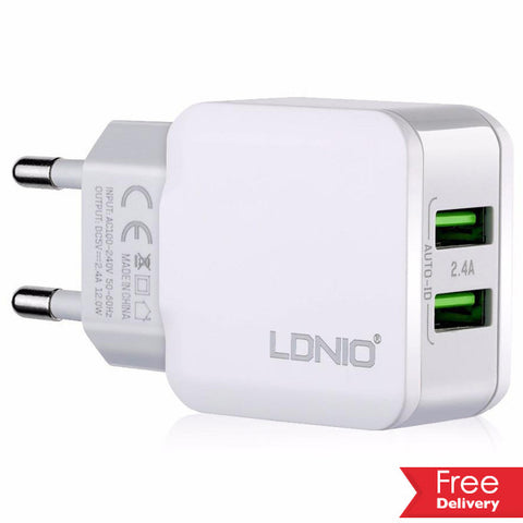 LDNIO 2.4A EU Dual USB Port Travel Charger For Android For R189.99 Including Delivery
