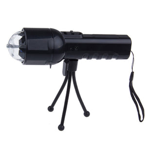 LED Flashlight With Colorful Stage Light