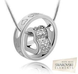 Swarovski Crystal Heart In Circle Pendant for R189.99 - iDealDirect - 1