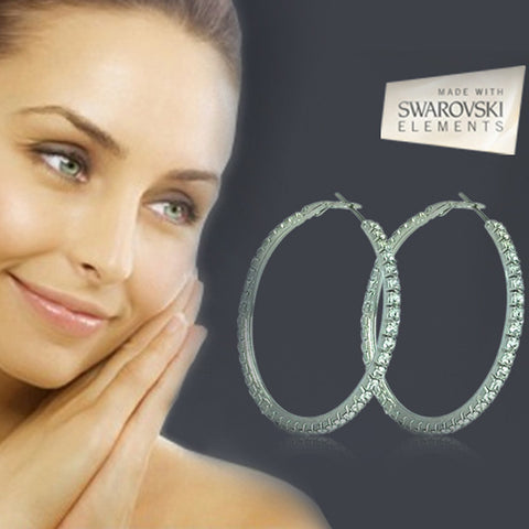 Crystal Loop Earrings with Swarovski Elements For R239.99 Including Delivery