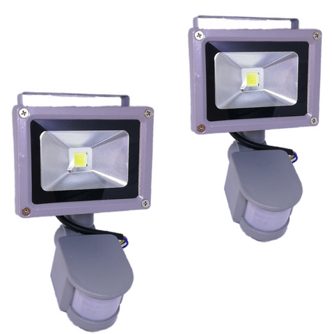 2 x Outdoor Motion Sensor 30W LED Floodlights