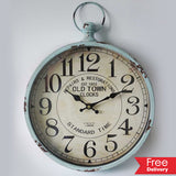 Old Town Metal Wall Clock 30CMx6CMx39CM For R249.99 Including Delivery