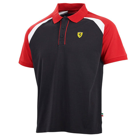 Ferrari Mens XL Race Polo Shirt Black