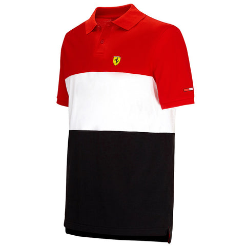 Ferrari SML Race Polo Shirt Red
