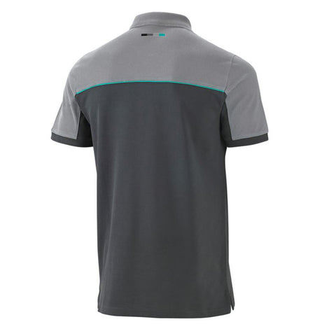 Mercedes Large Mens Polo Shirt Grey