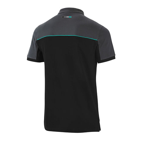 Mercedes Mens Polo Shirt Black Small