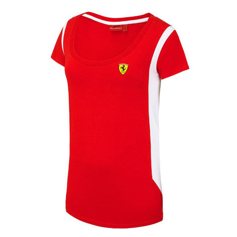 Ferrari Medium Womens Race T Shirt Red