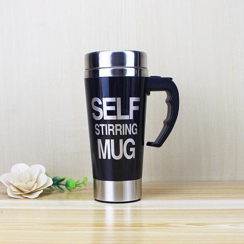 Automatic Mixing Self Stirring Mug Black