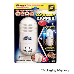 Atomic Zapper 2 in 1 Ultrasonic Pest Repeller and Bug Zapper