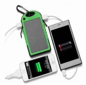 Solar Charger Powerbank with Dual USB Ports and Torch