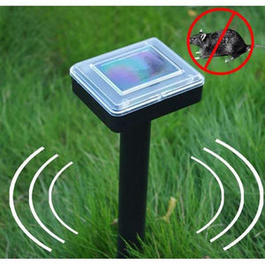Set of 2 Ultrasonic Solar Powered Sonic Pest Repeller