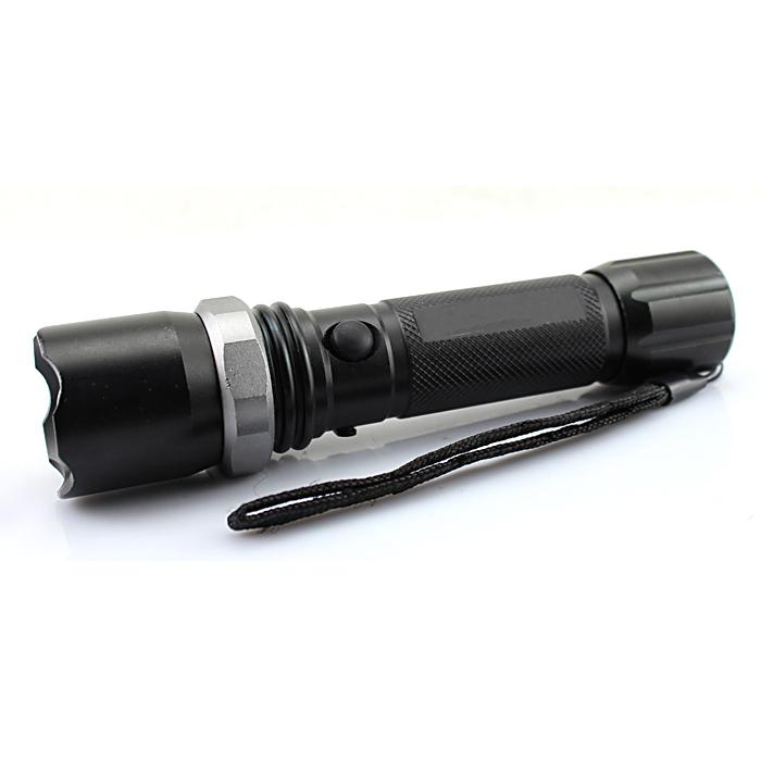 Swat LED Rechargeable Flashlight With  Beacon