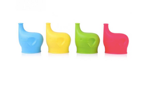 2-for-1 Elephant Silicone Sippy Cup Lids
