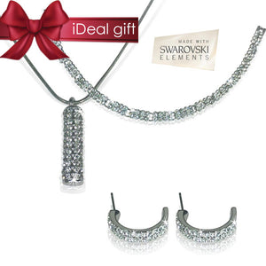 Silver Swarovski Trio Set - iDealDirect - 1