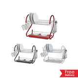 Two Tier Coloured Dish Rack For R299.99 Including Delivery
