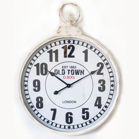 London Old Town Pendant Metal Wall Clock 60CM X 6.5CM X 77.5CM