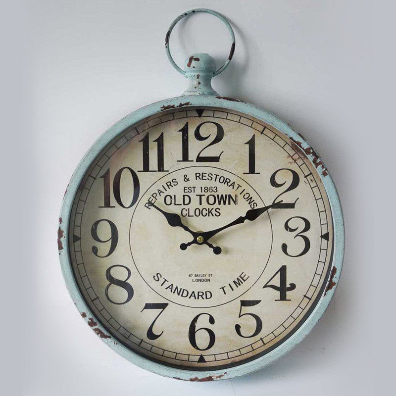 Old Town Metal Wall Clock 30CMx6CMx39CM For R384.99