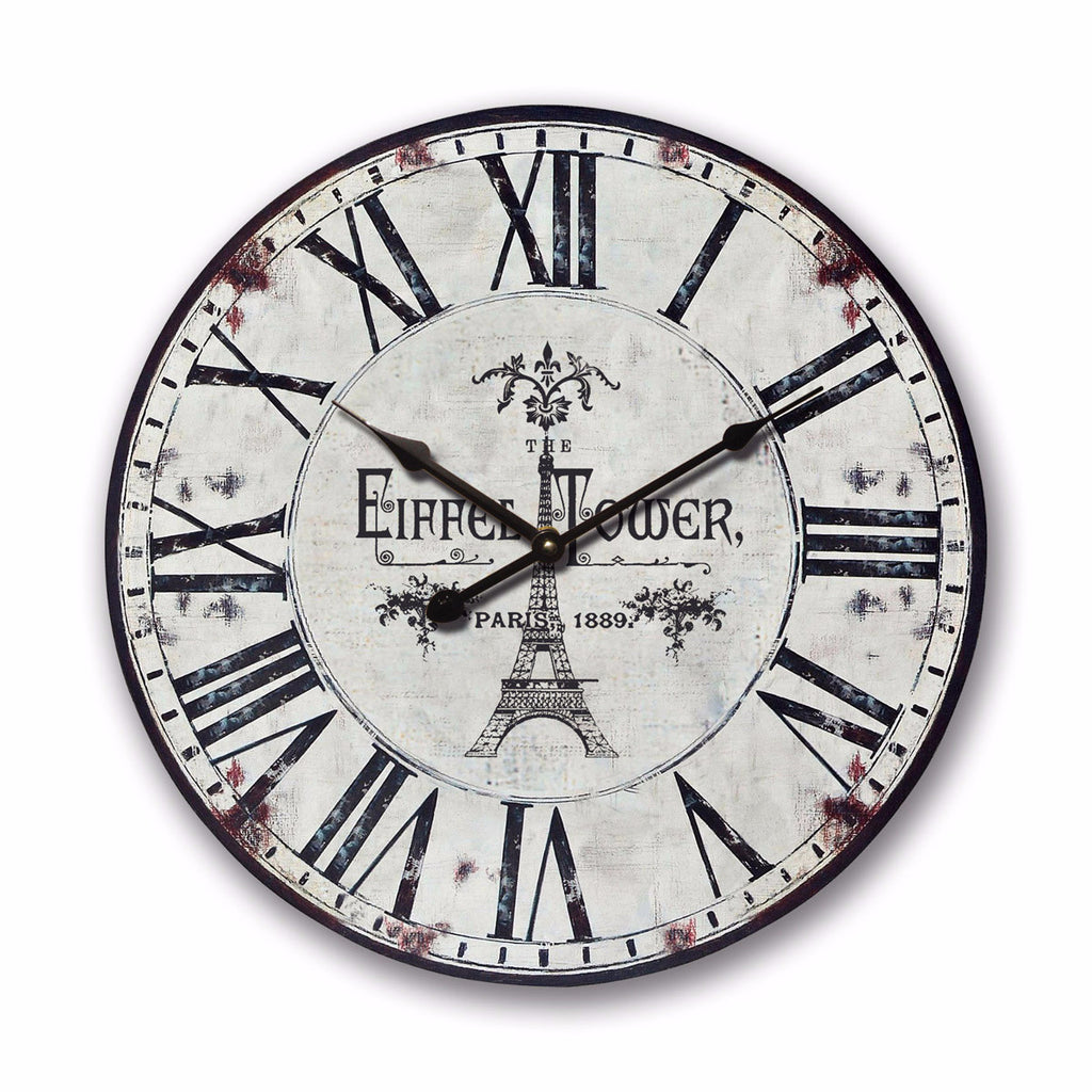 The Eiffel Tower Wooden Wall Clock φ60