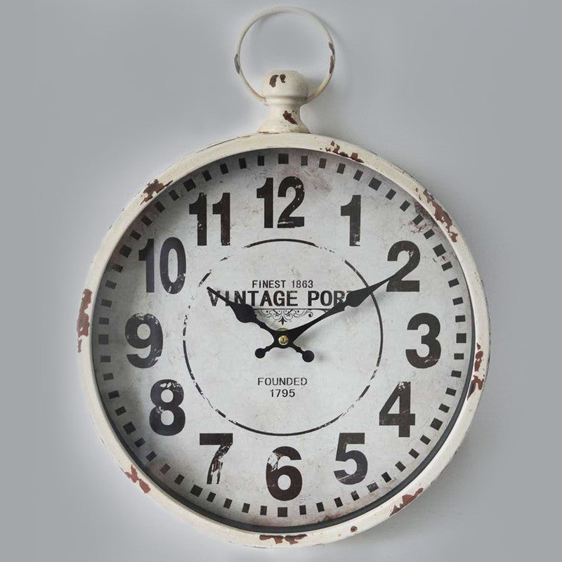 Vintage Port Metal Wall Clock 30CM X 6CM X 39CM For R249.99 Including Delivery