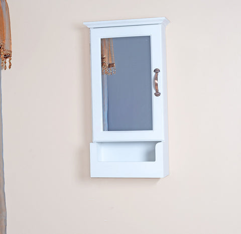 Wall Mounted Wooden Mirrored Key or Jewellery Storage Cabinet For R299.99