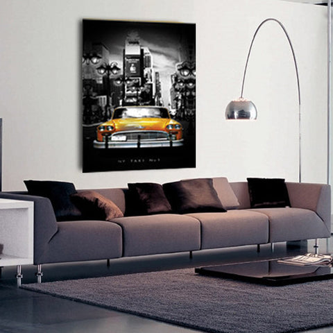 "50CM x 70CM ""New York Taxi No1"" Canvas Print"