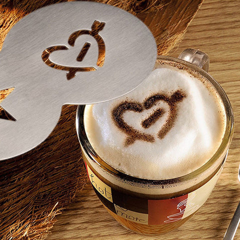 Three In One Latte, Cappuccino And Coffee Stencil  Including Delivery