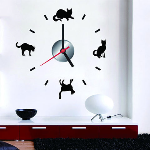DIY Wall Clock. Cat