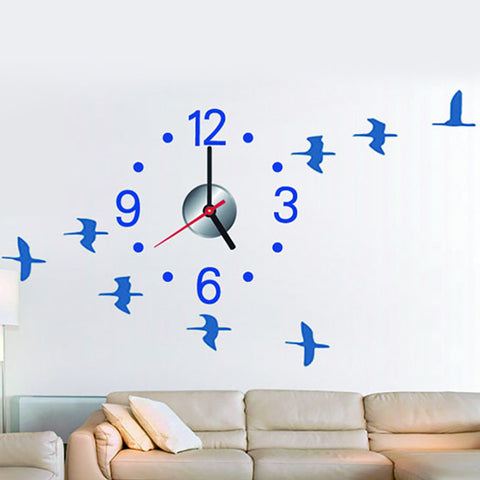 DIY Wall Clock Crane Bird