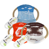 Two For One: Pet Bite Cotton Rope Dog Frisbee Including Delivery