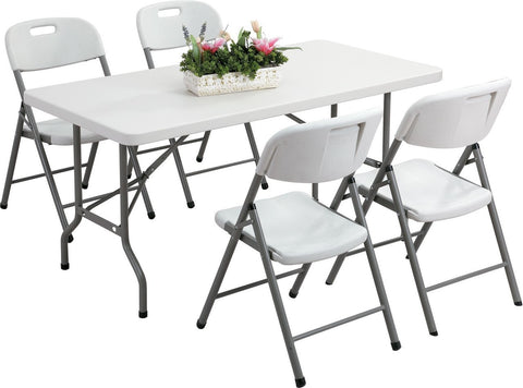 White Folding Trestle Table And Chair Set For R1899.99 Including Delivery