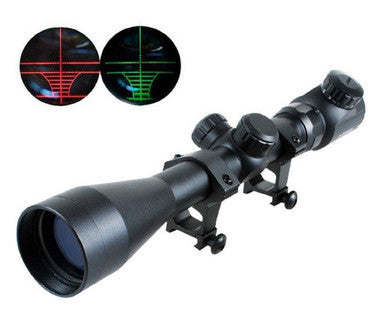 Rifle Scope 3-9X40EG With Red & Green Illuminated Reticle Sights