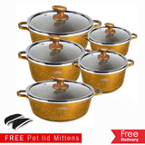DESSINI : 10-Piece Luxury Granite Casserole Set For R1319.99 Including Delivery