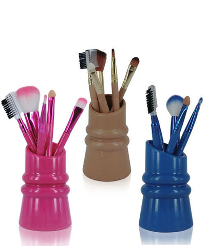 Two for One - 6 Piece Make-Up Brush  Set With PVC Holder For R99.99