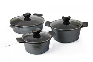 Bellissima Cookware - Wave 6pc - Space Grey