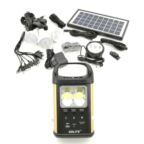 GD Lite Rechargeable Digital Lantern with Solar Panel and Bulbs GD-8032