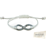 White Infinity Bracelet with Swarovski Elements For R199.99 Including Delivery