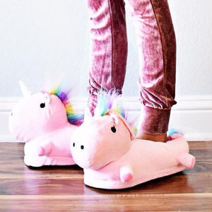 3D Unicorn Slippers Plush Soft Unicorn Slippers