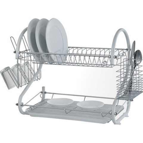 Flash Sale :  2 Tier Coloured Dish Rack in Black, Red or White for R149.99