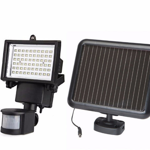 60 LED SOLAR SECURITY LIGHT WITH PIR