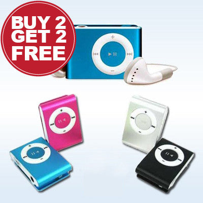Flash Sale : Four for Two : Mini MP3 Player with Earphones for R99.99.