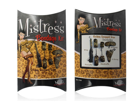 Mistress Bondage Kit - Golden Leopard Line