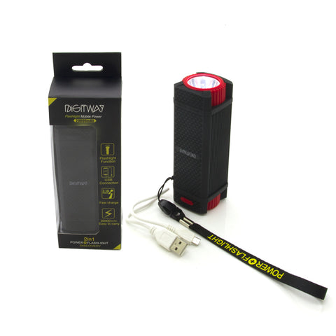 DIGITWAY 2 IN 1 Mobile Power Flashlight