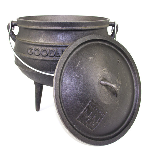 Selection Of Waxed Potjie Cast Iron Pots