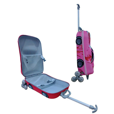 Kids Car Trolley Bag Pink