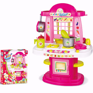 4 in 1 Cooker Plastic Kitchen Set for Girls - iDealDirect