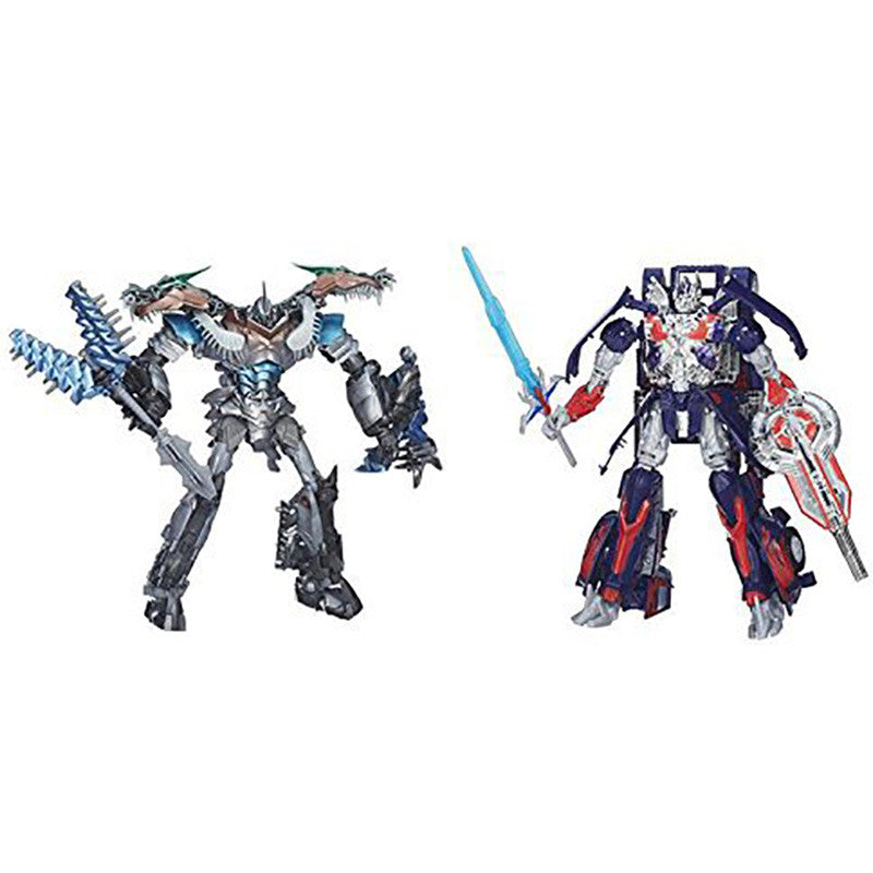 Exclusive Leader Class Grimlock & Optimus Prime Two Pack Platinum Edition